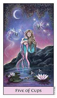 Five of Hearts Tarot Card - Crystal Visions Tarot Deck