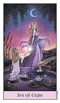 Six of Ghosts Tarot Card - Crystal Visions Tarot Deck