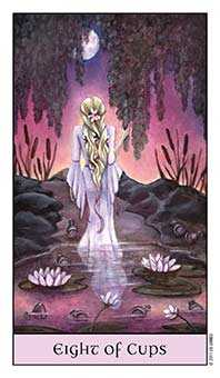 Eight of Ghosts Tarot Card - Crystal Visions Tarot Deck