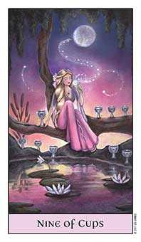 Nine of Bowls Tarot Card - Crystal Visions Tarot Deck
