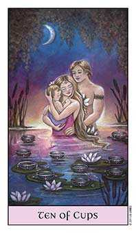 Ten of Hearts Tarot Card - Crystal Visions Tarot Deck