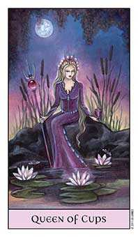Queen of Ghosts Tarot Card - Crystal Visions Tarot Deck