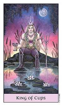 King of Cauldrons Tarot Card - Crystal Visions Tarot Deck