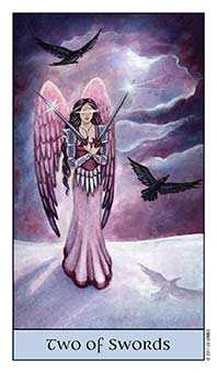 Two of Swords Tarot Card - Crystal Visions Tarot Deck