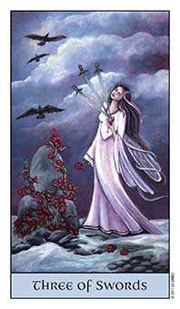 Three of Swords Tarot Card - Crystal Visions Tarot Deck