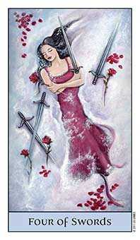Four of Arrows Tarot Card - Crystal Visions Tarot Deck