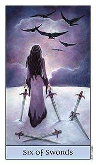 Six of Bats Tarot Card - Crystal Visions Tarot Deck