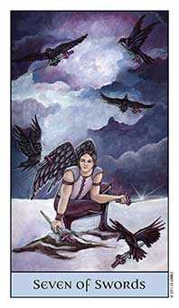 Seven of Bats Tarot Card - Crystal Visions Tarot Deck