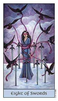 Eight of Bats Tarot Card - Crystal Visions Tarot Deck