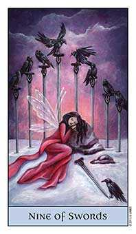 Nine of Bats Tarot Card - Crystal Visions Tarot Deck