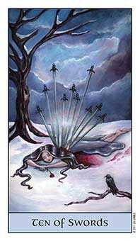 Ten of Arrows Tarot Card - Crystal Visions Tarot Deck
