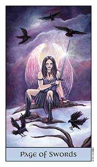 Daughter of Swords Tarot Card - Crystal Visions Tarot Deck