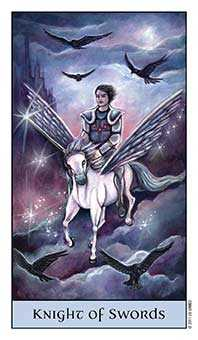 Knight of Swords Tarot Card - Crystal Visions Tarot Deck