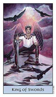King of Bats Tarot Card - Crystal Visions Tarot Deck