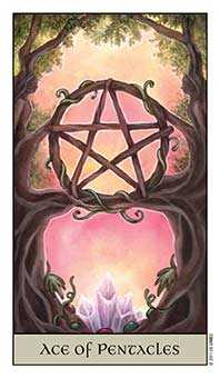 Ace of Pentacles Tarot Card - Crystal Visions Tarot Deck