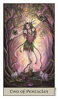 Two of Diamonds Tarot Card - Crystal Visions Tarot Deck