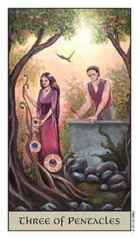 Three of Pentacles Tarot Card - Crystal Visions Tarot Deck