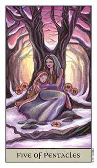 Five of Coins Tarot Card - Crystal Visions Tarot Deck