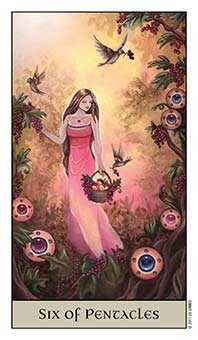 Six of Coins Tarot Card - Crystal Visions Tarot Deck