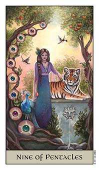Nine of Coins Tarot Card - Crystal Visions Tarot Deck