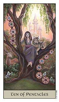 Ten of Stones Tarot Card - Crystal Visions Tarot Deck
