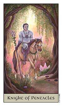 Knight of Coins Tarot Card - Crystal Visions Tarot Deck