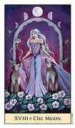 The Moon Tarot card in Crystal Visions deck
