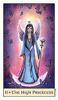 The High Priestess Tarot Card - Crystal Visions Tarot Deck