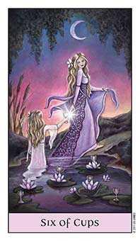 Six of Cups Tarot Card - Crystal Visions Tarot Deck