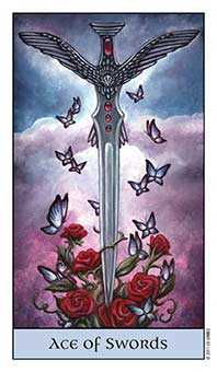 Ace of Swords Tarot Card - Crystal Visions Tarot Deck