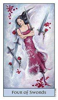 Four of Swords Tarot Card - Crystal Visions Tarot Deck