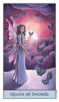 Queen of Swords Tarot Card - Crystal Visions Tarot Deck