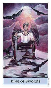King of Swords Tarot Card - Crystal Visions Tarot Deck