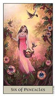 Six of Coins Tarot Card - Crystal Visions Tarot Deck