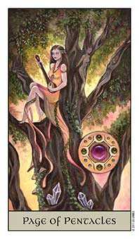 Page of Coins Tarot Card - Crystal Visions Tarot Deck