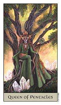 Queen of Coins Tarot Card - Crystal Visions Tarot Deck