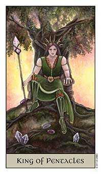 King of Coins Tarot Card - Crystal Visions Tarot Deck