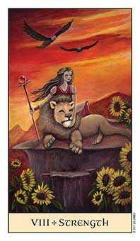 Strength Tarot Card - Crystal Visions Tarot Deck