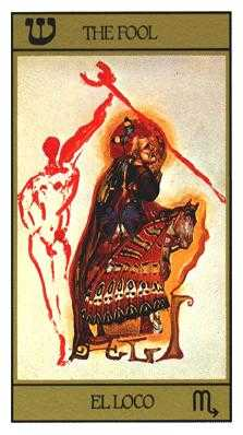 The Foolish Man Tarot Card - Salvador Dali Tarot Deck