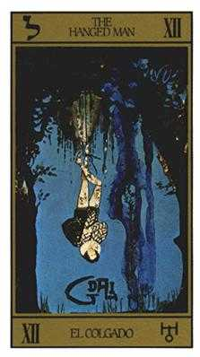 The Lone Man Tarot Card - Salvador Dali Tarot Deck