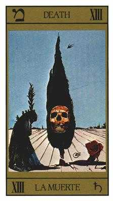 Death Tarot Card - Salvador Dali Tarot Deck