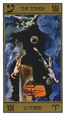 The Blasted Tower Tarot Card - Salvador Dali Tarot Deck