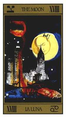 The Moon Tarot Card - Salvador Dali Tarot Deck