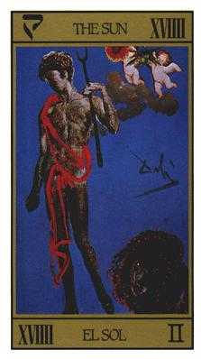 The Sun Tarot Card - Salvador Dali Tarot Deck