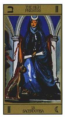 The High Priestess Tarot Card - Salvador Dali Tarot Deck