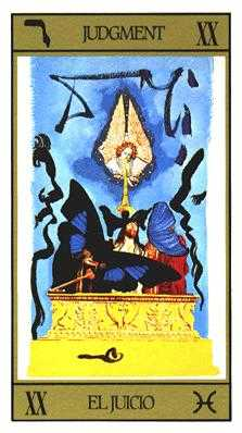 Judgment Tarot Card - Salvador Dali Tarot Deck
