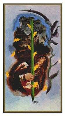 Ace of Rods Tarot Card - Salvador Dali Tarot Deck