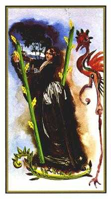 Two of Wands Tarot Card - Salvador Dali Tarot Deck