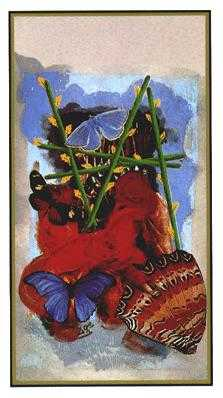 Five of Clubs Tarot Card - Salvador Dali Tarot Deck
