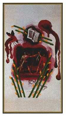 Eight of Rods Tarot Card - Salvador Dali Tarot Deck